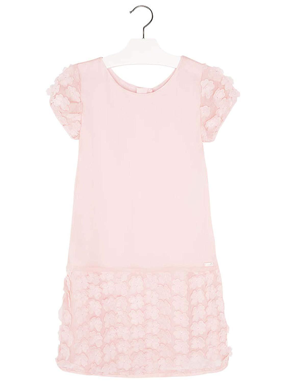 9401fcf4892 Mayoral Chic Tween Girls 8-18 Light-Rose Flutter Flower Crinkle Chiffon  Shift Dress