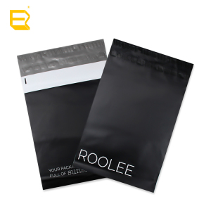 custom printed biodegradable personalised large matte black poly plastic postage mailers mailing envelope bags clothes shipping