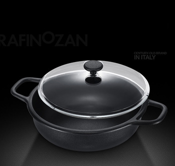 24cm Professional Chef Pan 100% Pfoa Free Non-stick Covered Fry Pan  Casserole With 2 Helpers - Buy 28cm Less Oils And Fats Maxiimus Hot Pot  Non-stick