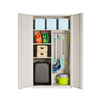 System Storage Cabinet Balcony Corner Storage Wardrobe Cabinet With Shelves  And Hanging
