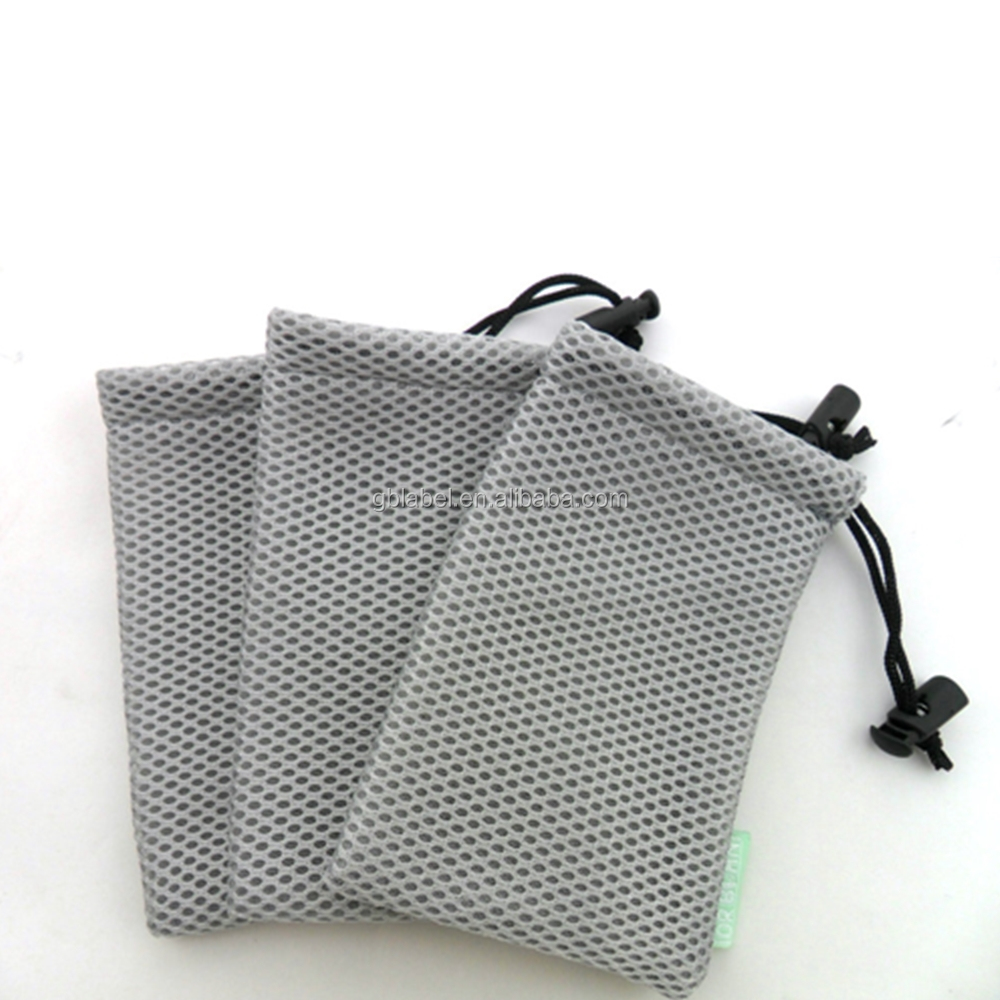 eco-friendly custom soft drawstring mesh pouches