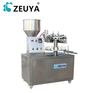 classical semi-automatic plastic/aluminum tube filling and sealing machine round table china manufacturer