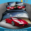 China wholesale Luxury 100% cotton 205TC 3D printed bedding set, comforter set