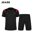 JEASS Branded Soccer Referee Jerseys Professional Fair Play Football Referee Judge Uniforms Football Jersey Set maillot
