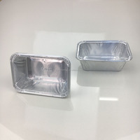 105*75*30mm 160ml capacity rectangular small size aluminum foil disposable baking cake trays