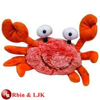 Meet EN71 and ASTM standard ICTI plush toy factory plush crab plush toy