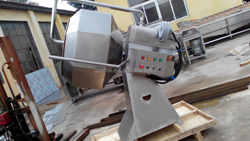 High efficiency food processing potato chips making flavor treatment machine / nut flavoring machine