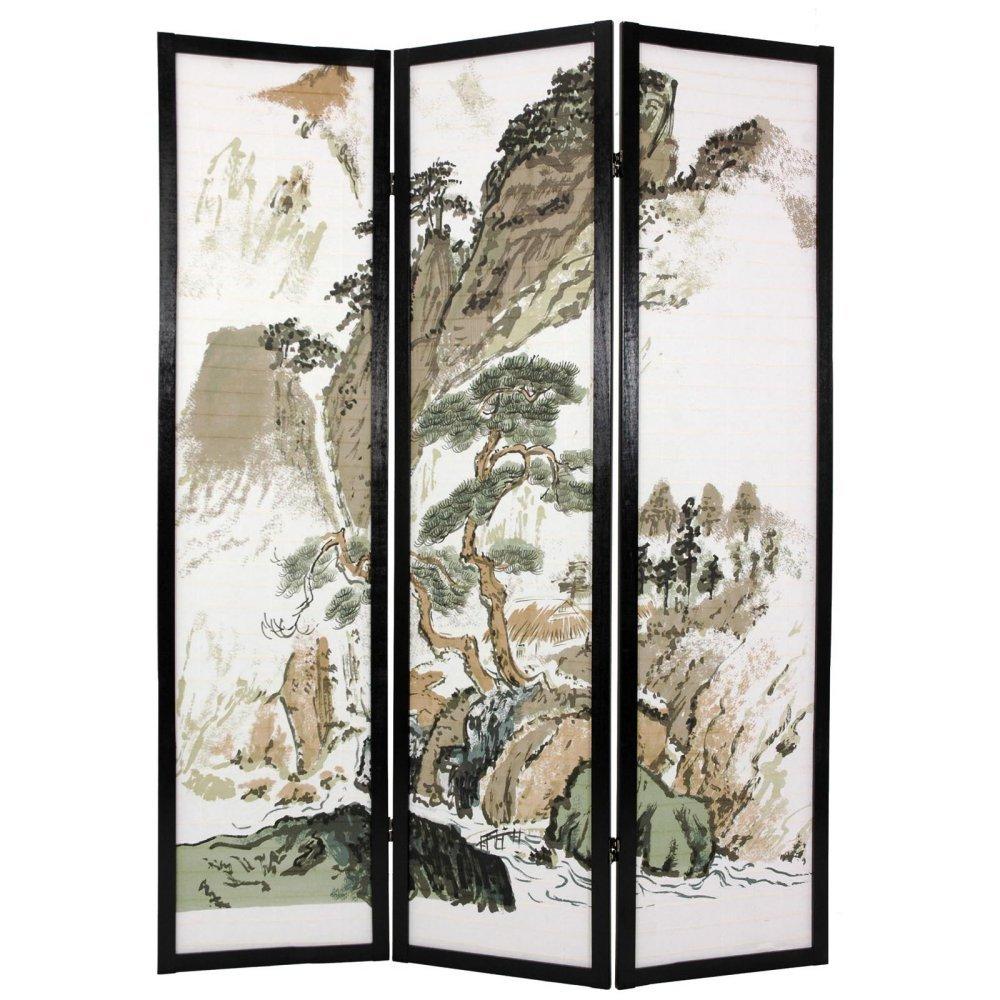 Get Quotations · Oriental Furniture Landscape Design Shoji Screen Room  Divider