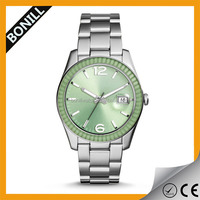 Different color face sapphire glass S.S bracelet minimalist watch with change dial for lady