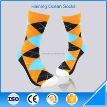 Sport argle design combed cotton brand men socks