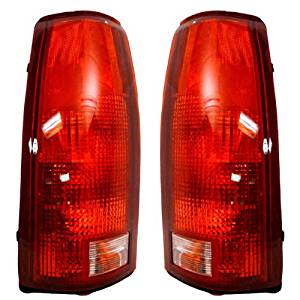 1999-2000 Cadillac Escalade, 1992-1994 Blazer/Jimmy Fullsize, 1988-2000 Chevrolet/Chevy & GMC C1500 K1500, 1990-2000 C2500 C3500 K2500 K3500 Full Size Pickup Truck, 1992-1998 Suburban, 1995-2000 Tahoe & Yukon Fullsize Taillight Taillamp Rear Brake Tail Light Lamp (Without Circuit Board & Bulbs)