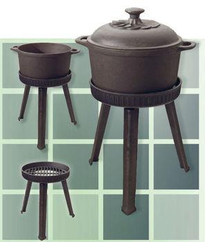Cast Iron Open Fire Cook Pot Outdoor Cooking
