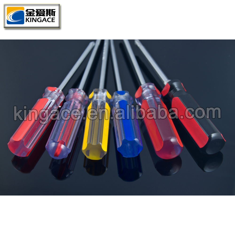 Hot Sale Long Plastic Ergonomic Screwdriver Handle 4'' Plus Screwdriver