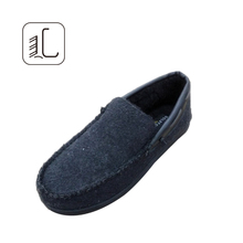 High quality lamb wool cheap loafer shoes men