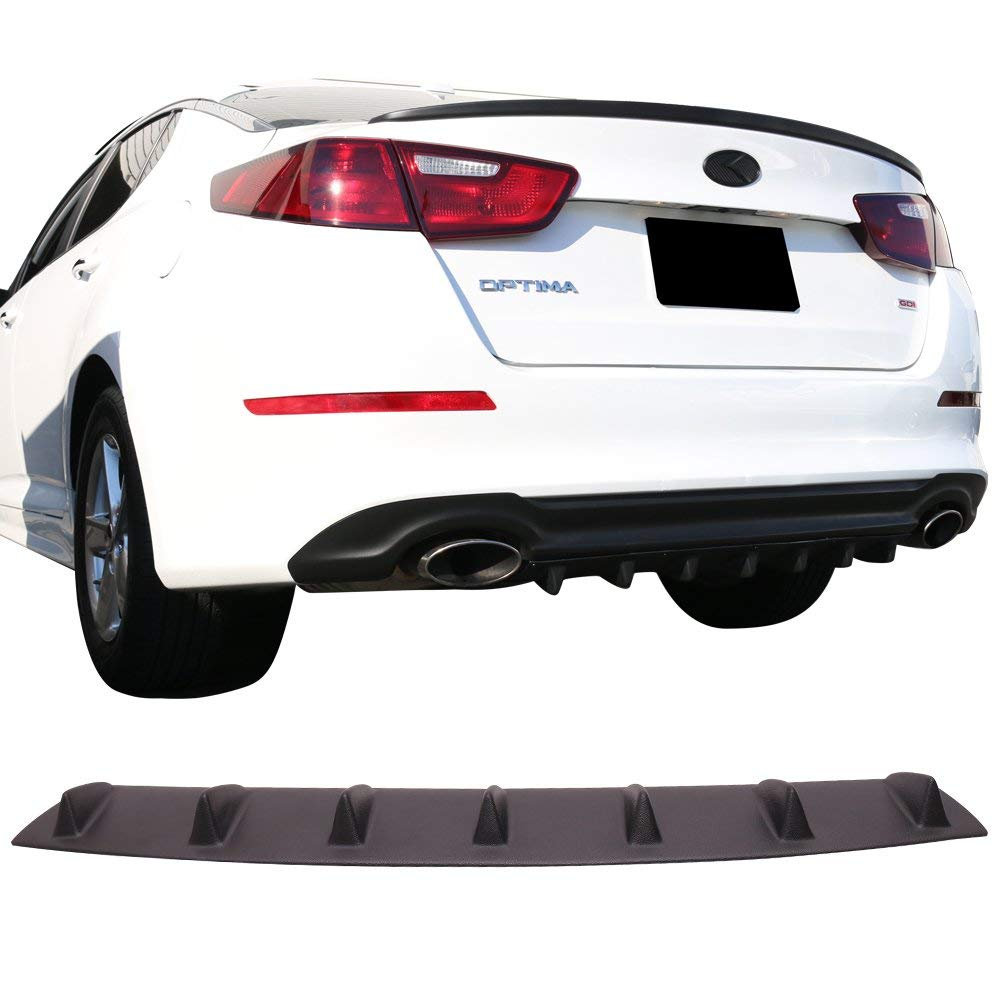 2010 2011 2012 2013 ST Style Black PU Add on Aftermarket Replacement Parts Rear Splitter by IKON MOTORSPORTS Rear Bumper Lip Diffuser Compatible With 2009-2015 For Nissan Maxima