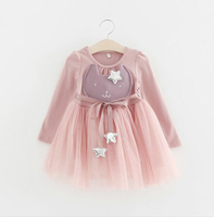 zm53574a 2017 model baby mesh dress for girl of 5 years old