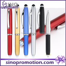 Stylus Ball Point Metal Pen With LED Flashlight for iPhone 6 S Plus, Samsung, Touch Screens Device, iPad, Tablets