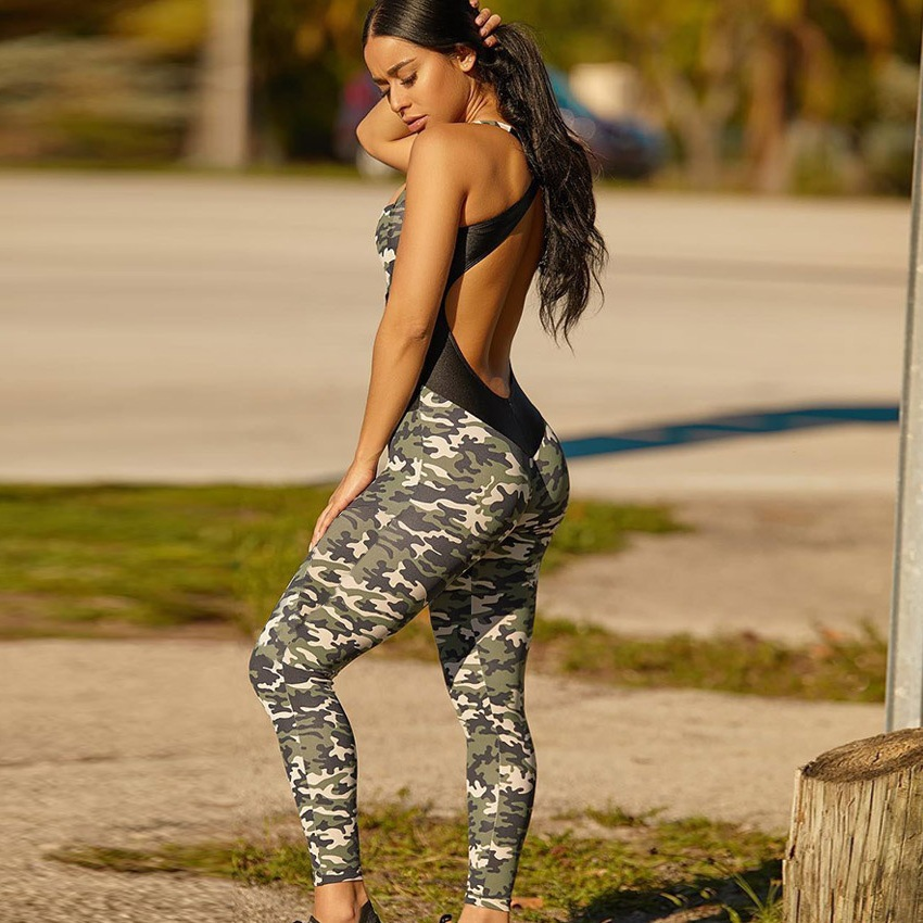 Women's Fashion Yoga Fitness Gym Workout Sports Activewear Jumpsuit фото