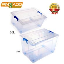 Plastic Household Items Hard Plastic Box For Small Storage Bins