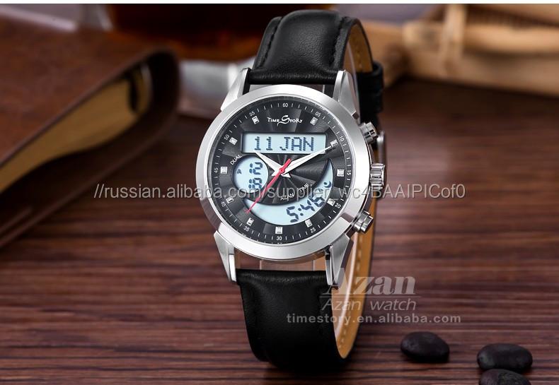 6ce61423a818 Горячие продажи исламской подарочные изделия alfajr Цифровой Исламская Азан Часы  для Мужчин