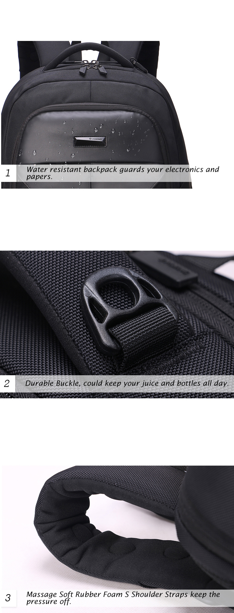2020 Aoking backpack New Patent Design Massage school bags student Air Cushion Men's Laptop Men Large Capacity Comfort Backpacks