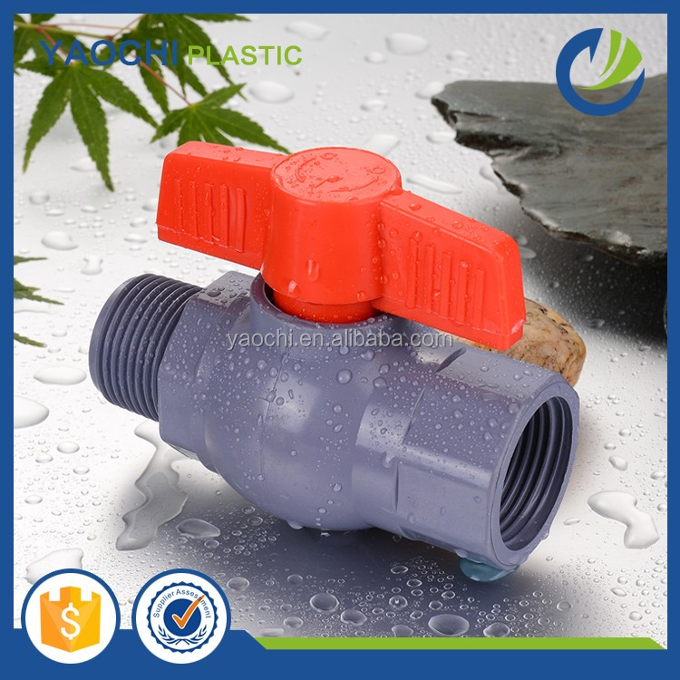 Farm Irrigation Tools Plastic Water Pipe Fittings female to male PVC Ball Valve