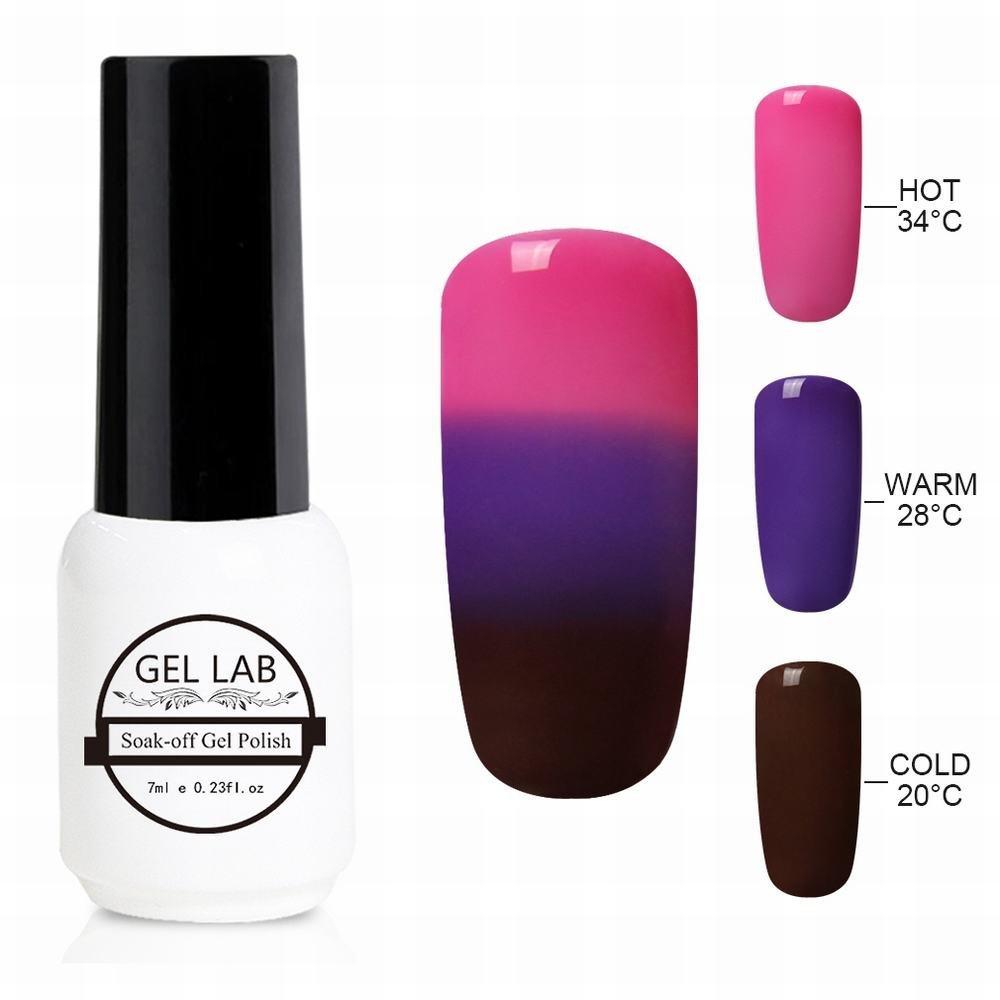 GEL LAB 7ml Chameleon 3 Way Tri-Color Temperature Changing Color Nail Lacquers Soak Off UV LED Gel Polish TC4211