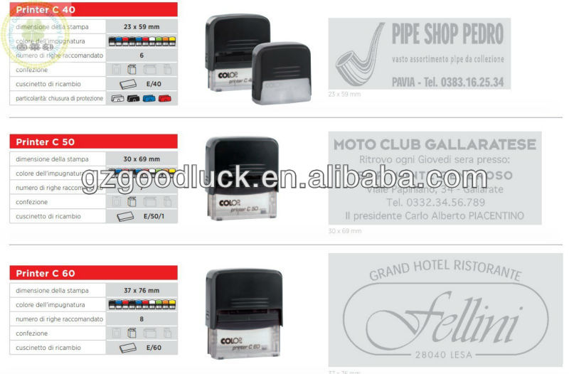 Student portable year, month and day adjustable automatic self-inking stamps