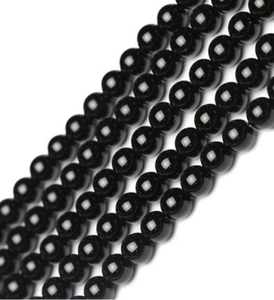2018 Wholesale AAA high quality 8mm 10mm natural stone black onyx gemstones round loose beads for jewelry making
