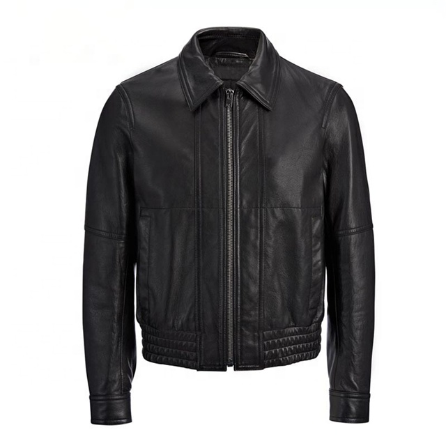 High Quality Chinese Wholesale Classic Black Pure Leather Jackets For Men Leather Jackets For Men