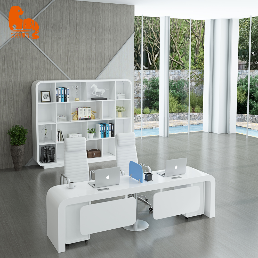 High glossy craft office cubicles wooden computer workstation