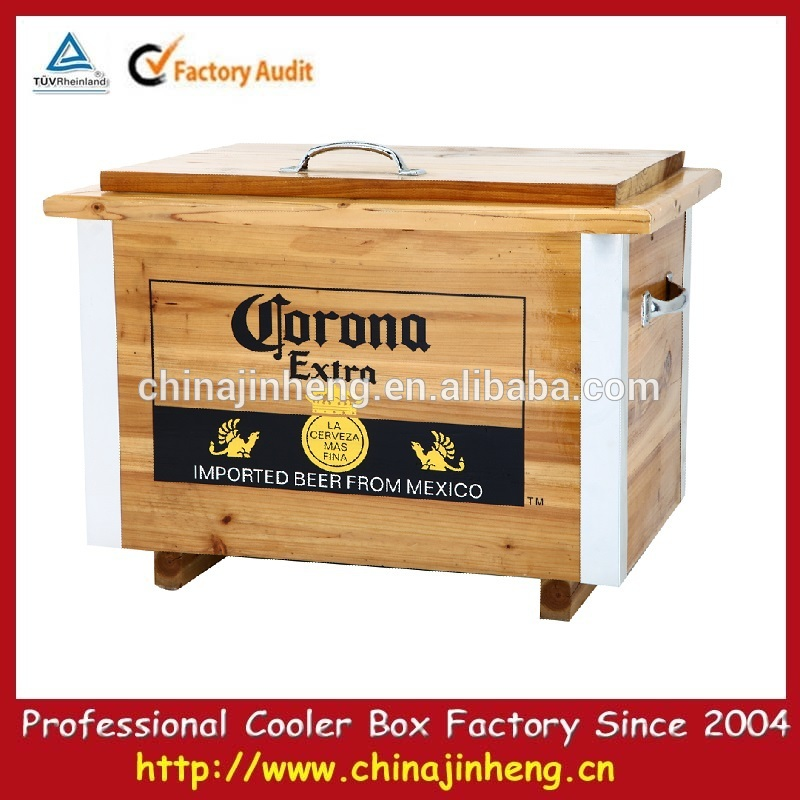Jardín de madera nevera portátil barril redondo de la cerveza más ...