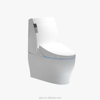Smart luxury intelligent auto cleaning and flushing high back smart toilets