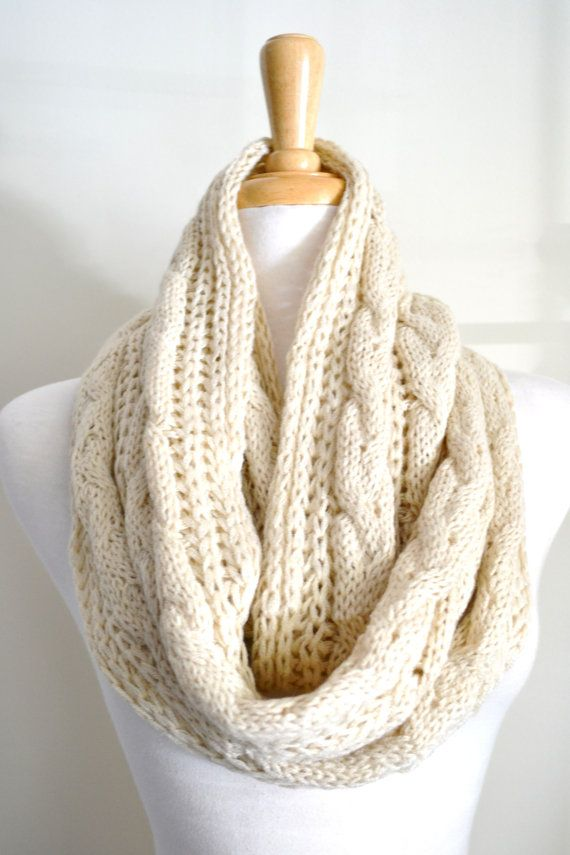 Loose Knit Shawl Pattern : Loose Knit Cable Pattern Infinity Loop Circle Scarves - Buy Cheap Circle Scar...
