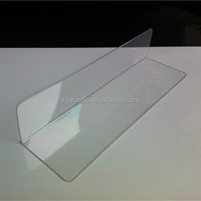 wholesale plexiglass plastic clear l shape acrylic shelf dividers