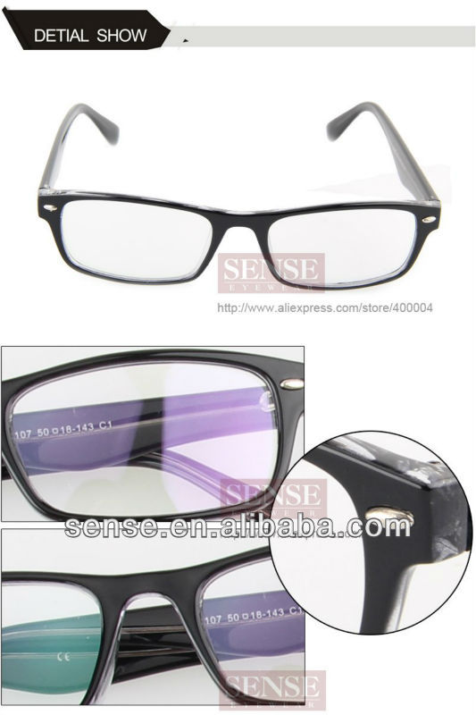 wholesale plastic optical frame with metal part