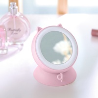 Wholesale Rechargeable Portable Heater Mini Cute Hot Electric Hand Warmers with Power Bank and Make UP Mirror