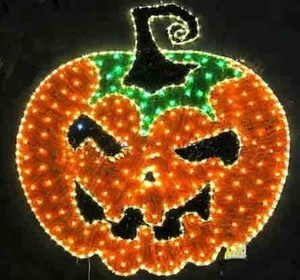 Factory Custom halloween light 2D pumpkin light for park