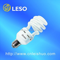 2016 main products 32W T4 energy saving lamps half spiral lights