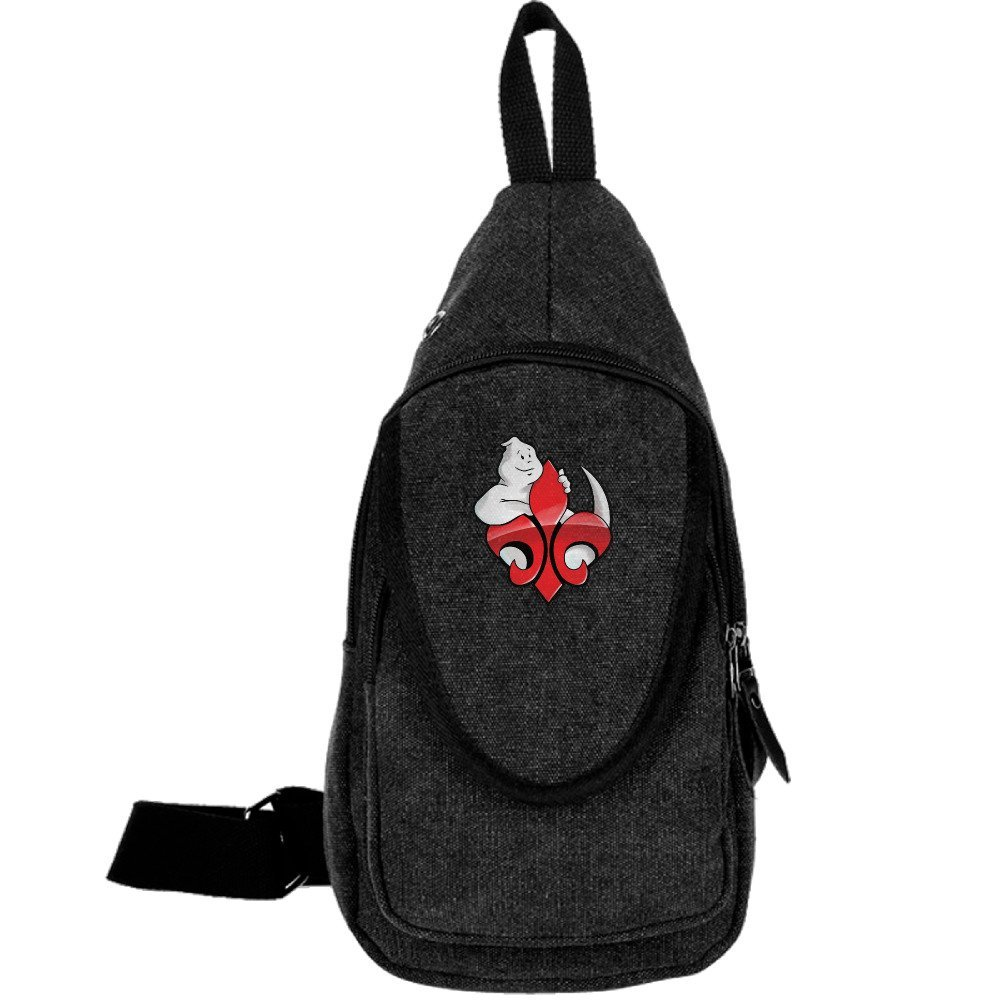 6b1a921e40 Get Quotations · Louisiana Ghostbusters Unbalance Backpack Sling Bag Chest  Pack Black
