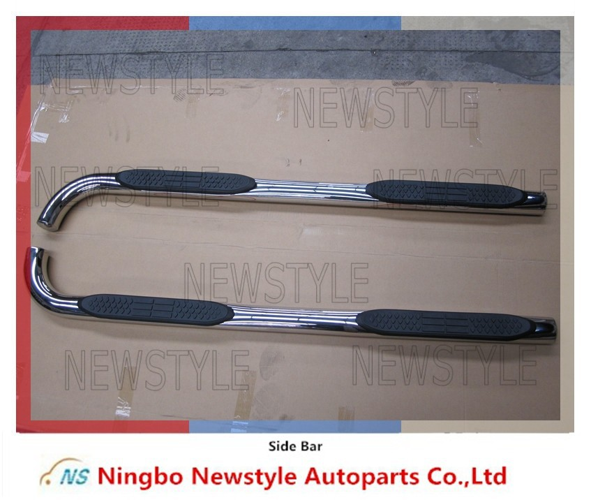 "3"" STAINLESS STEEL ROUND NERF BARS chevrolet trailblazer auto parts Side Bar for Chevrolet Trailblazer 4 Door 2002-2009"