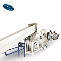 Pet bottle crushing washing drying recycling line / pet plastic recycling / plastic machinery
