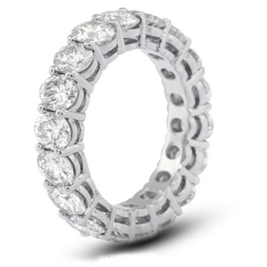 Jewelry Manufacturer 925 Sterling Silver 4mm CZ Eternity Band Ring