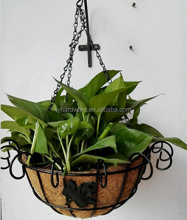 Garden Popular half round flower hanging basket