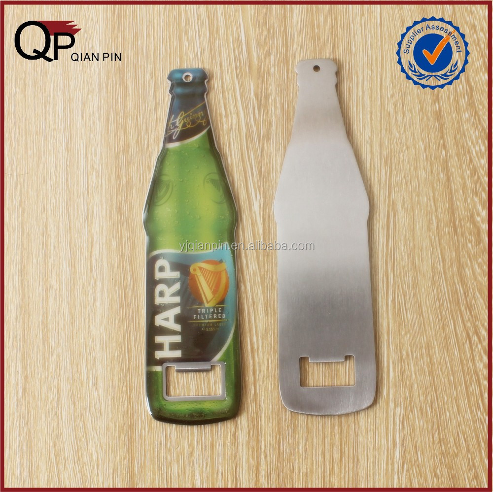 Whole Sale Bottle Shape Crystal Epoxy Beer Bottle Opener