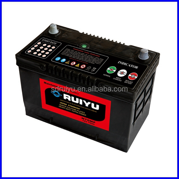 65D31R mf car battery for car 12V70AH battery terminal from motor parts accessories