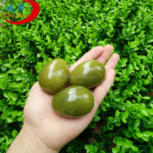 deluxe natural green jade stone eggs woman's vagina kegel exercises tool gemstone sex toy