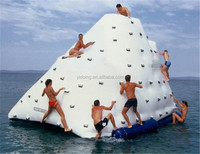 Newest inflatable water floating iceberg island for water park,inflatable water games D3067-2