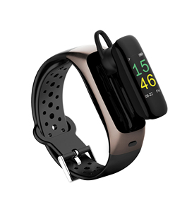 New Arrival T88 Headset Smart Bracelet 2 in 1 Smart Watch With headphone Sport Smart Talk Band With Heart Rate Fitness Track