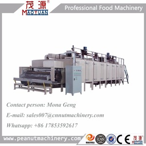 Automatic Continuous Conveyor Belt Coffee Bean Roasting Machine Cocoa Bean Roasting Machine